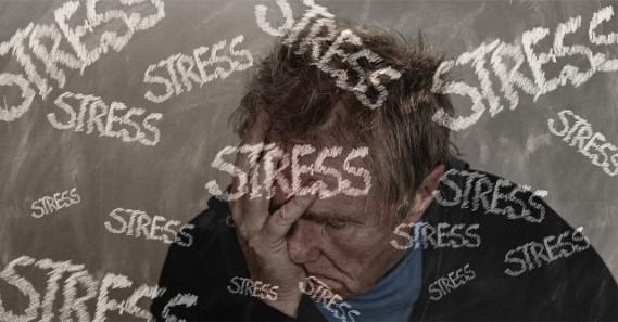 Stressgeplagter Mann